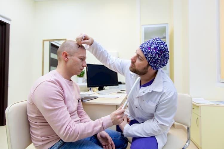مريض يوم عملية زراعة الشعر